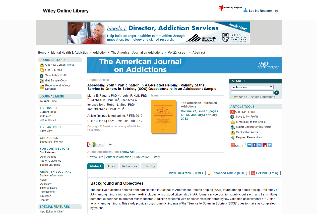 personal addiction journal What is drug addiction addiction is defined as a chronic, relapsing brain disease that is characterized by compulsive drug seeking and use, despite harmful.