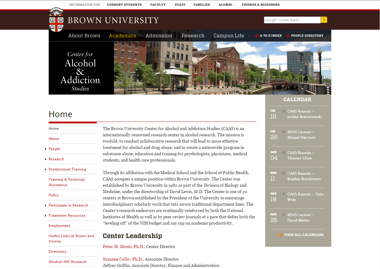 Brown University Center for Alcohol and Addiction Studies