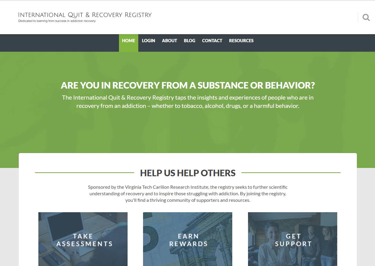 Virginia Tech International Quit and Recovery Registry