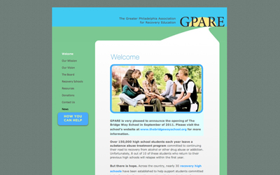 The Greater Phildelphia Association for Recovery Education (GPARE)