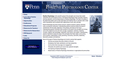 University of Pennsylvania Positive Psychology Center